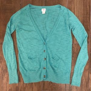 Mossimo Supply Co. Sweaters - Lightweight Teal Cardigan